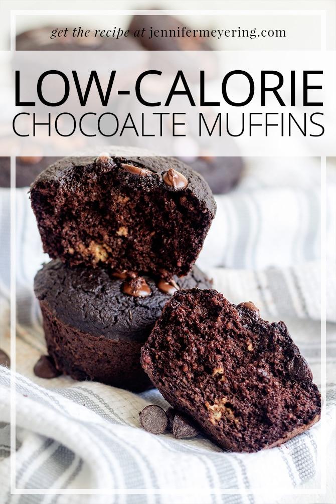 Low-Cal Chocolate Muffins - JenniferMeyering.com