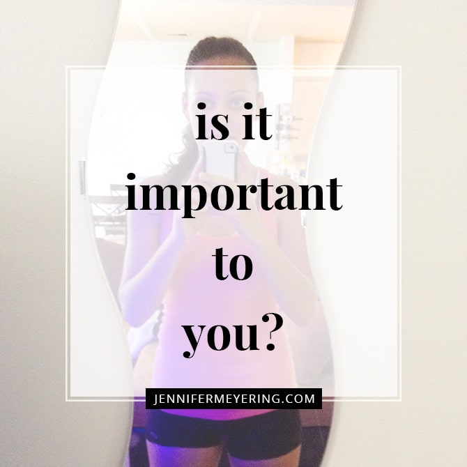 Is it Important to You?