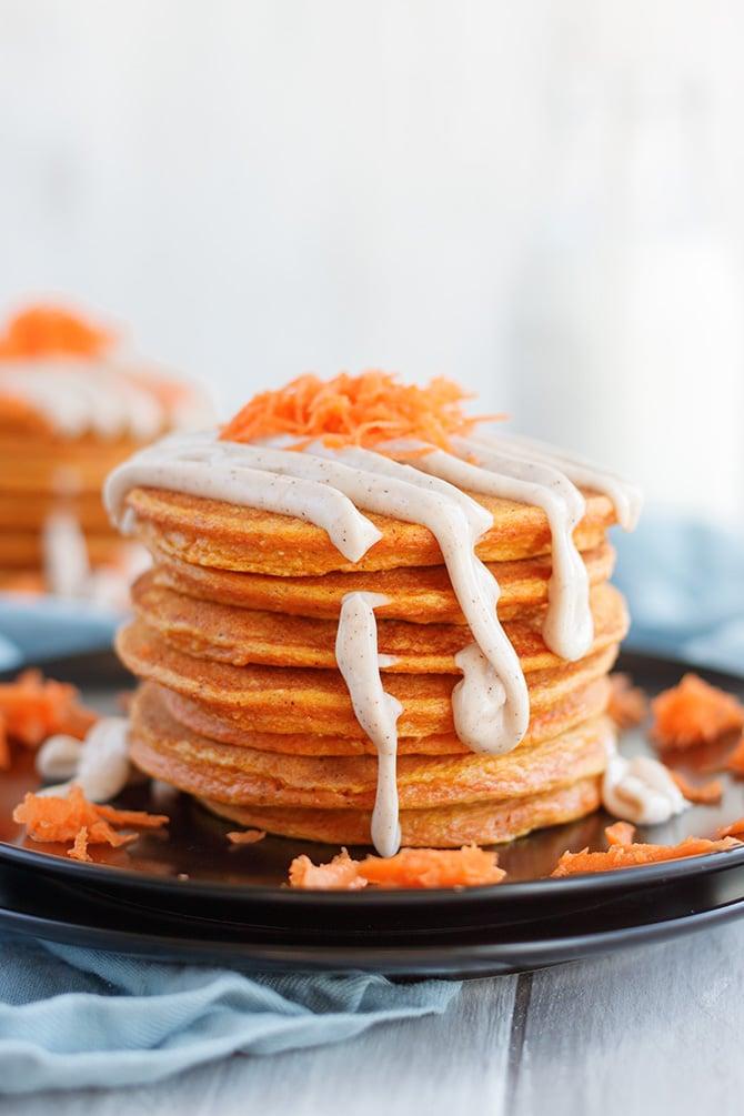 Carrot Cake Protein Pancakes - Jennifer Meyering