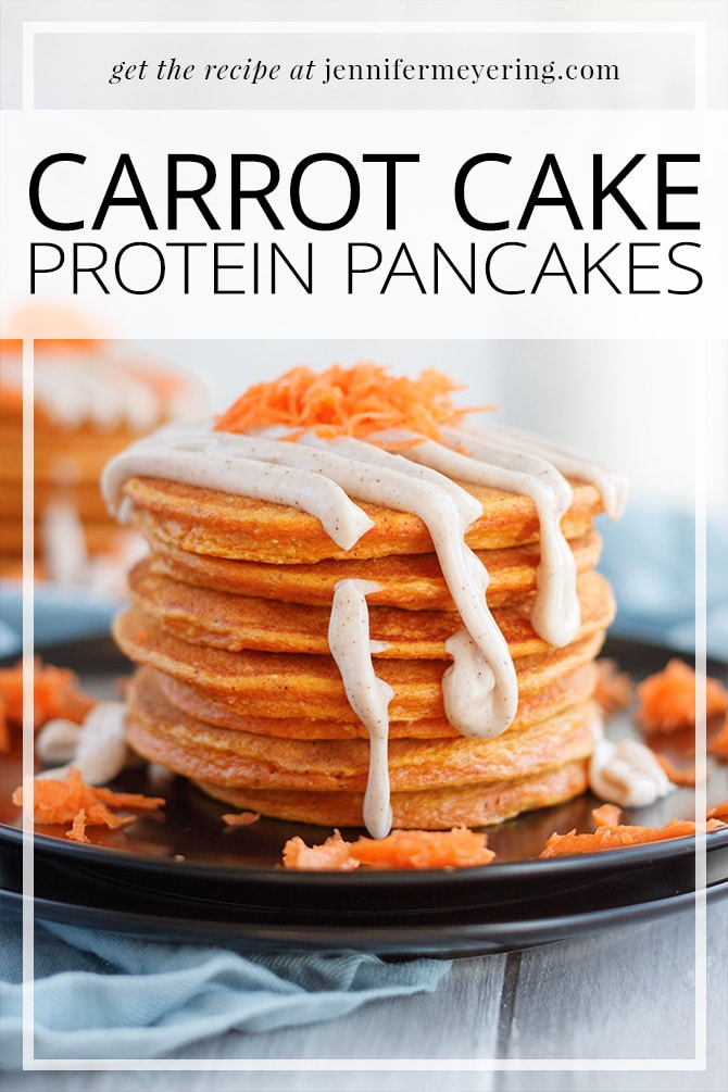 Carrot Cake Protein Pancakes - JenniferMeyering.com