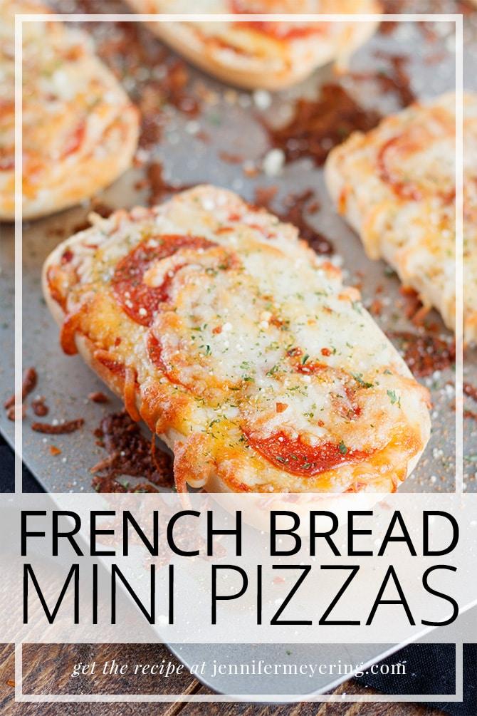 Mini French Bread Pizzas - JenniferMeyering.com
