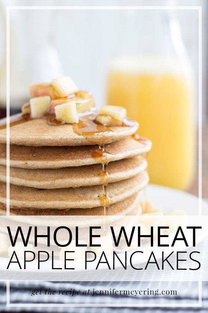 Whole Wheat Apple Pancakes - JenniferMeyering.com
