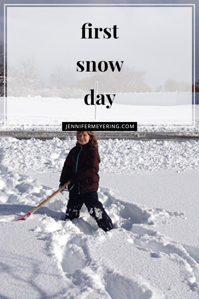 First Snow Day! - JenniferMeyering.com
