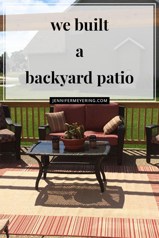 Backyard Patio - JenniferMeyering.com
