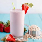 Strawberry Banana Oatmeal Protein Shake