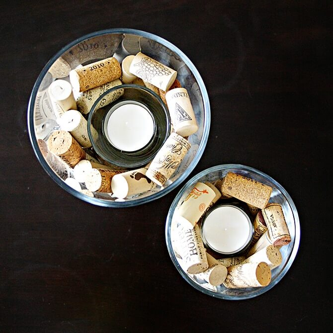 Cork Candles: Wine Cork Candle Holders