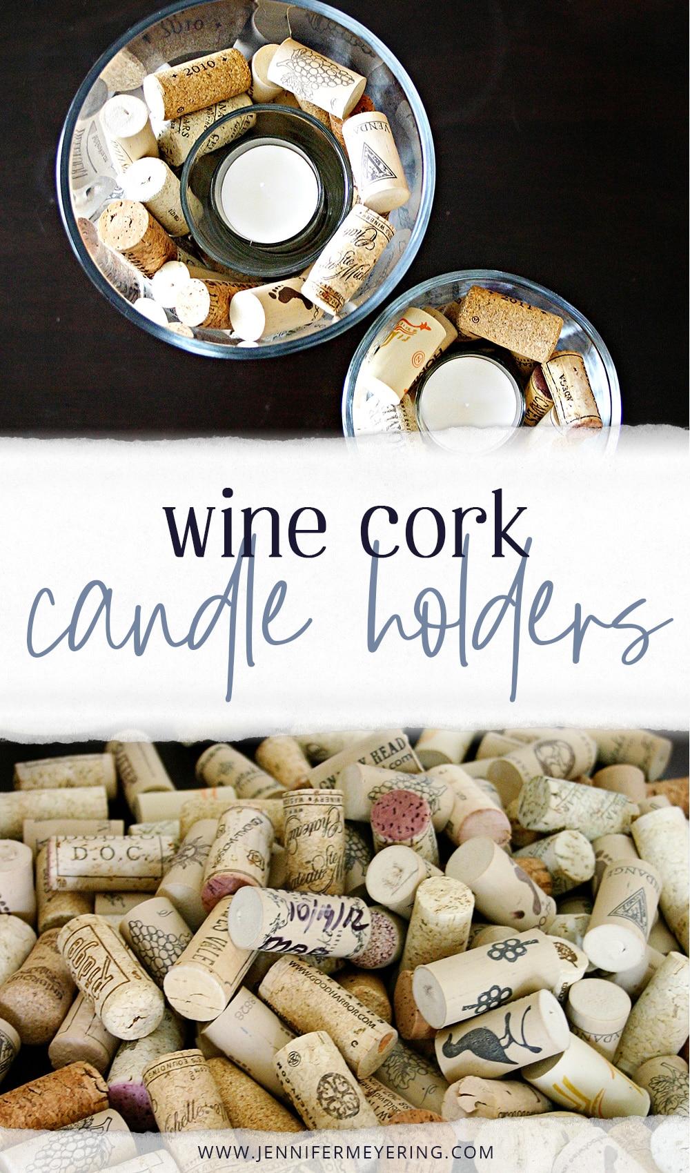 Wine Cork Candle Holders - JenniferMeyering.com