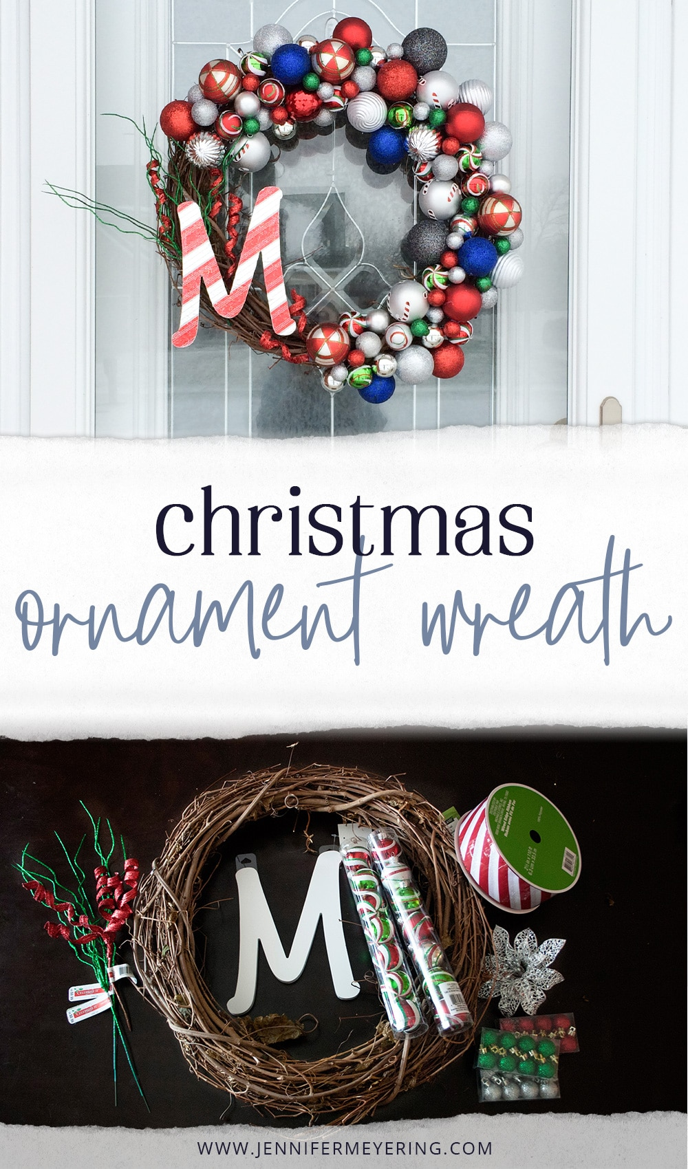 Christmas Ornament Wreath - JenniferMeyering.com