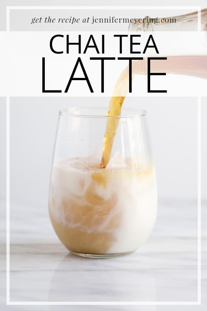 Chai Tea Latte   JenniferMeyering.com