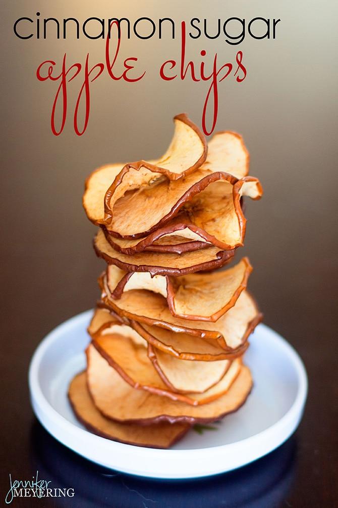Cinnamon Sugar Baked Apple Chips | JenniferMeyering.com