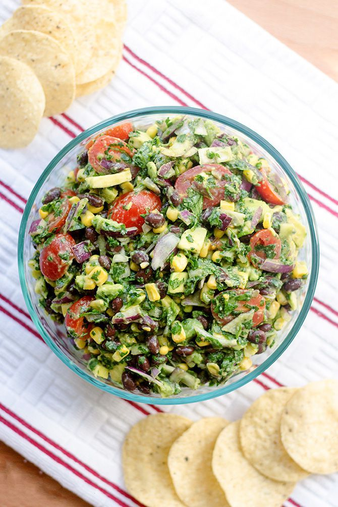 Corn, Avocado, Black Bean Summer Salad