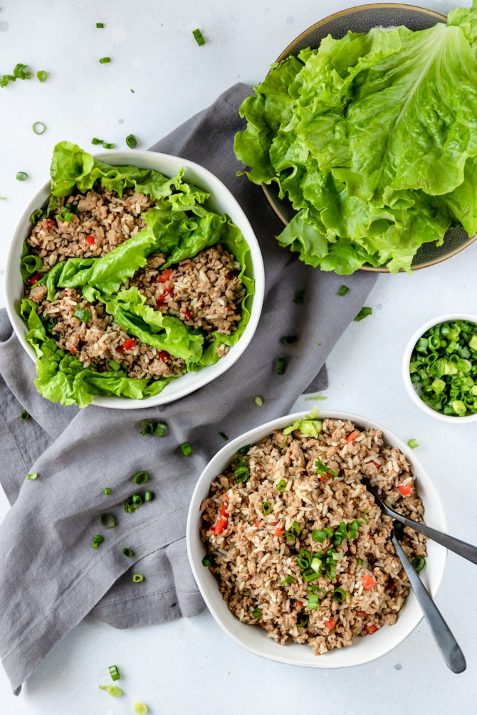 Asian Style Turkey Lettuce Wraps