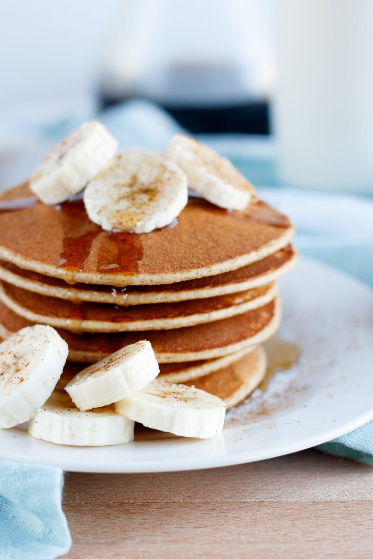 Cinnamon Banana Protein Pancakes
