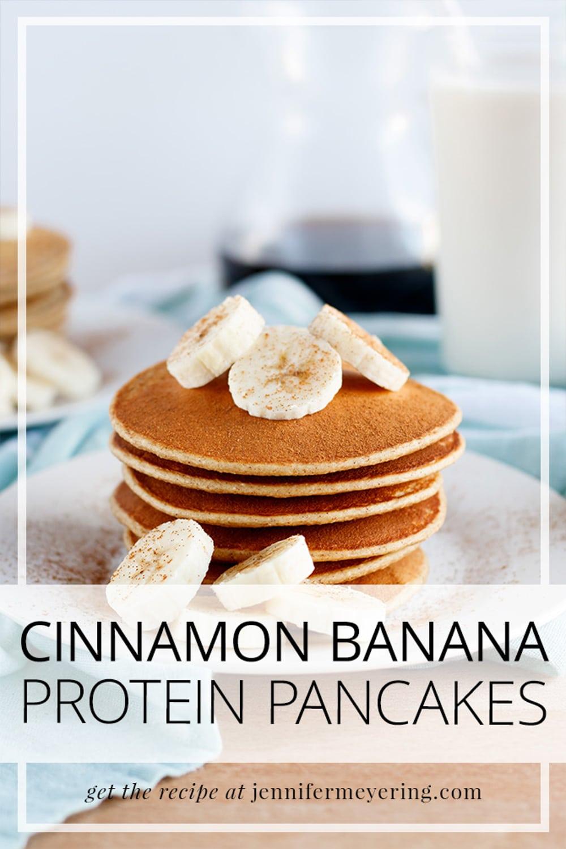 Cinnamon Banana Protein Pancakes - JenniferMeyering.com