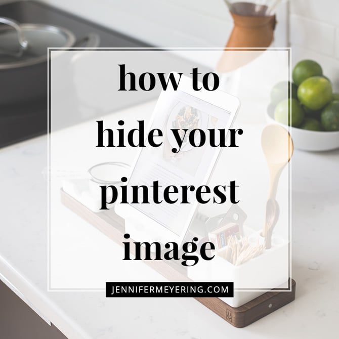 How to Add a Hidden Pinnable Image for Pinterest