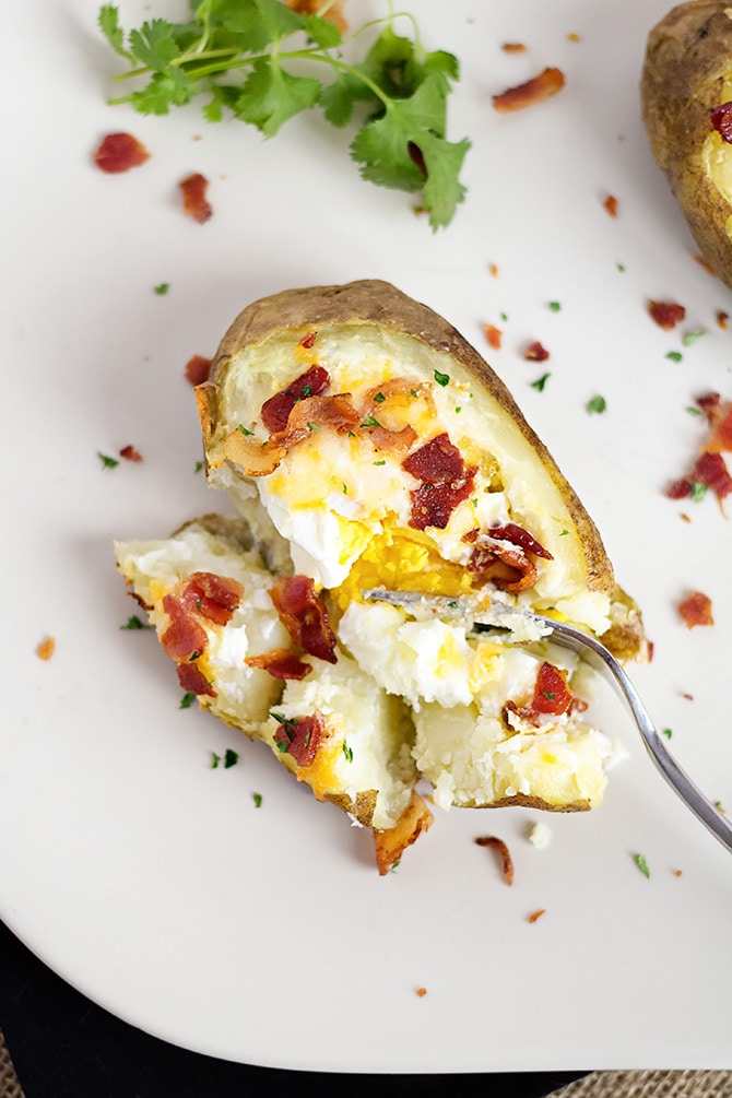 Baked Potato Egg Bowls