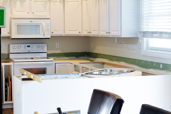 Kitchen Counter & Floor Remodel