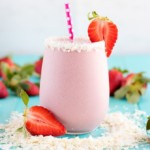 Strawberry Coconut Protein Shake