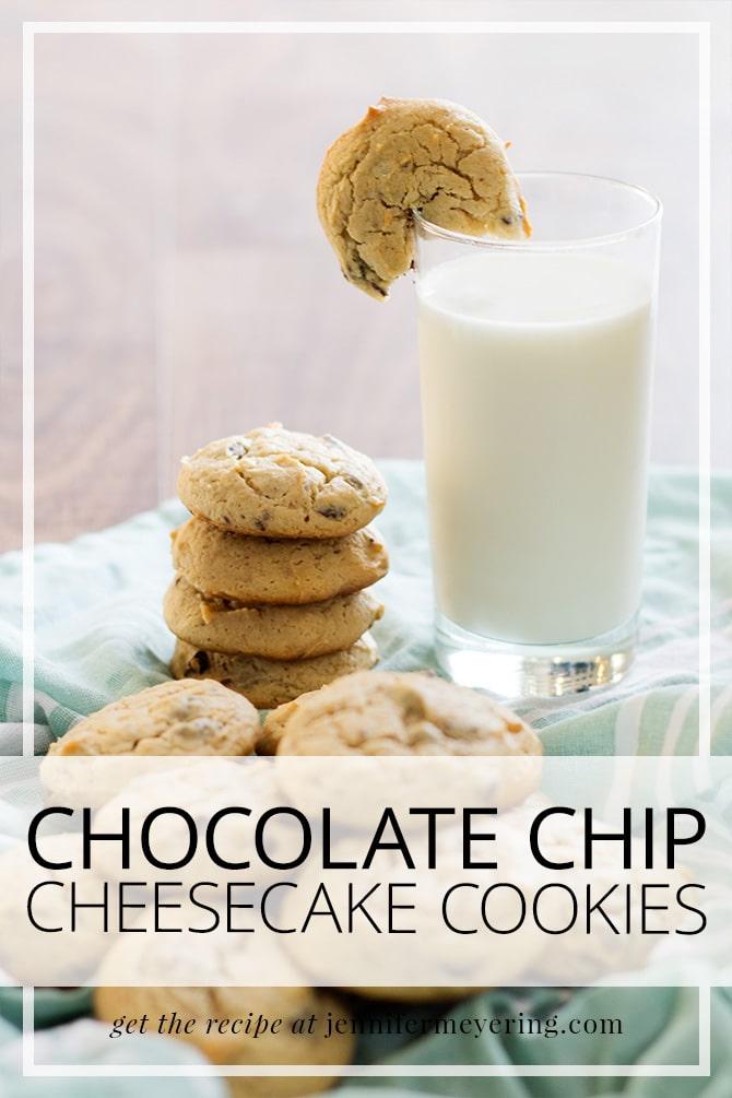 Chocolate Chip Cheesecake Cookies | JenniferMeyering.com