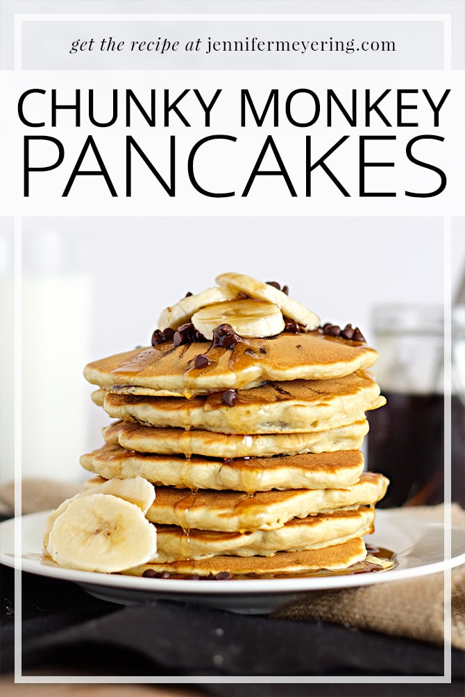 Chunky Monkey Pancakes | JenniferMeyering.com