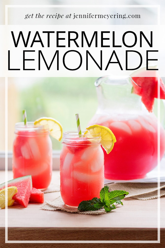 Watermelon Lemonade | JenniferMeyering.com