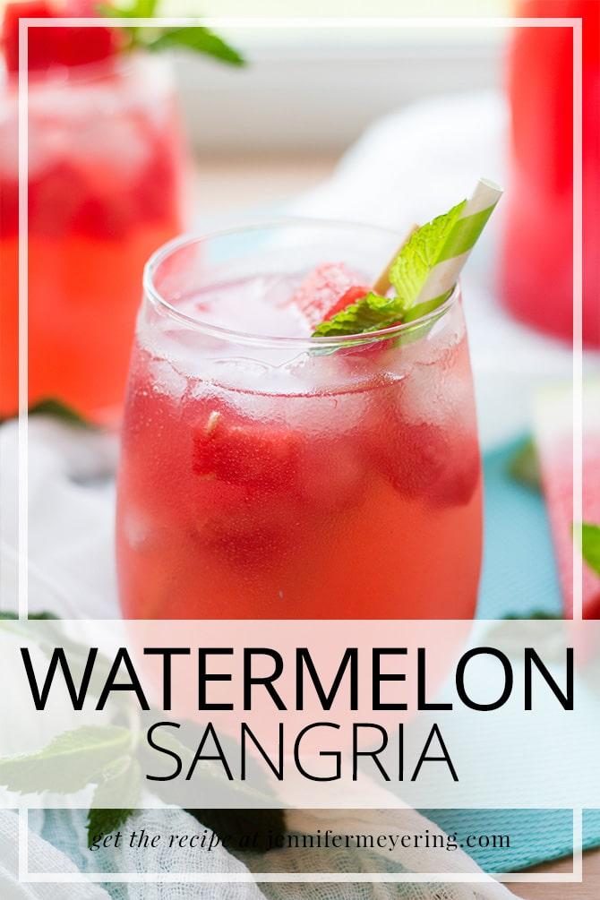 Watermelon Sangria   JenniferMeyering.com