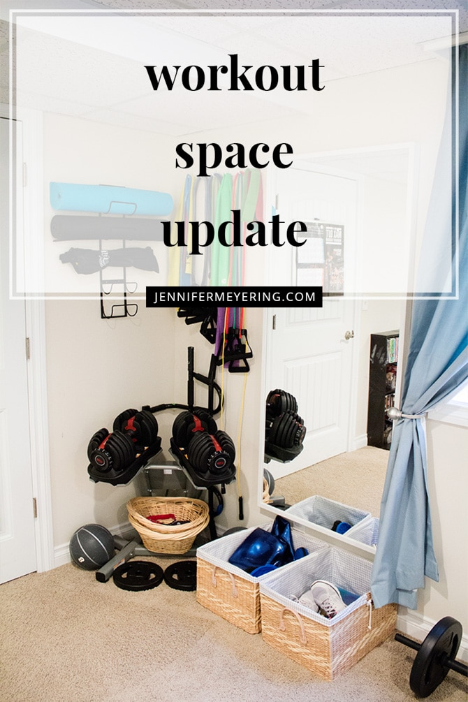 Workout Space Update - JenniferMeyering.com