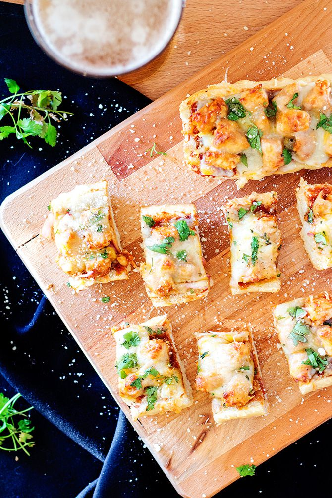 BBQ Chicken French Bread Pizzas