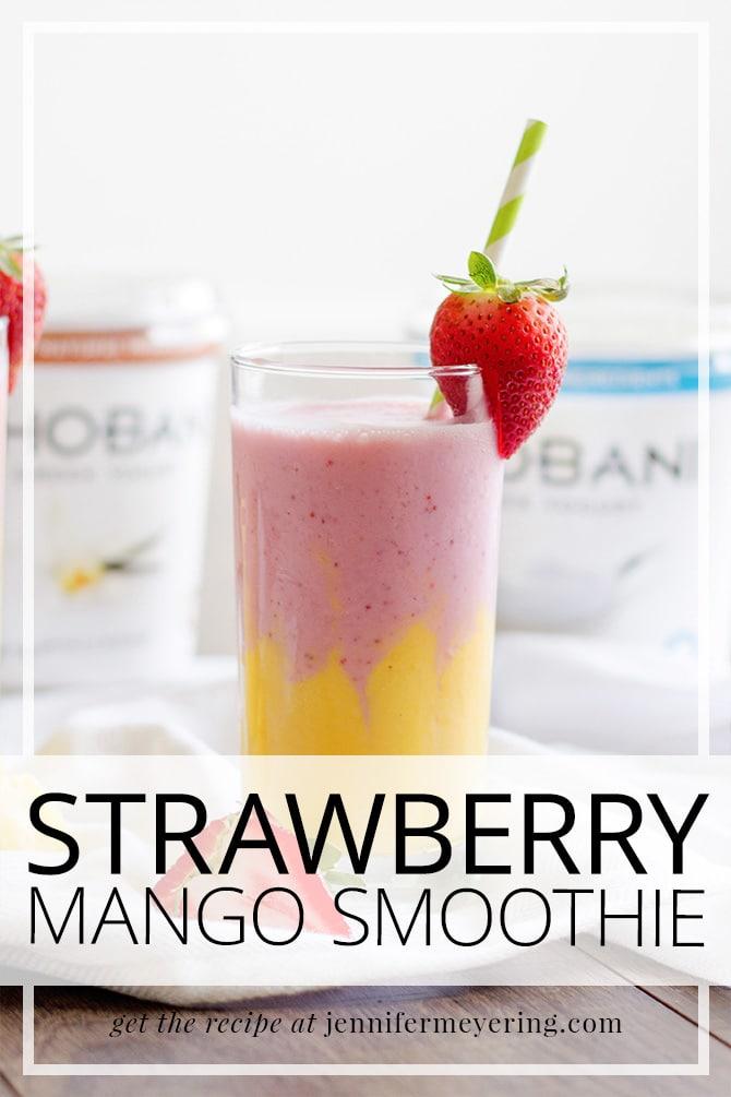 Strawberry Mango Smoothie -- JenniferMeyering.com