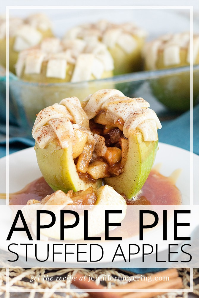 Apple Pie Stuffed Apples - JenniferMeyering.com