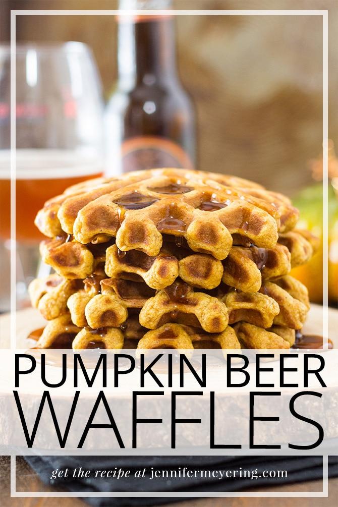 Pumpkin Ale Waffles - JenniferMeyering.com