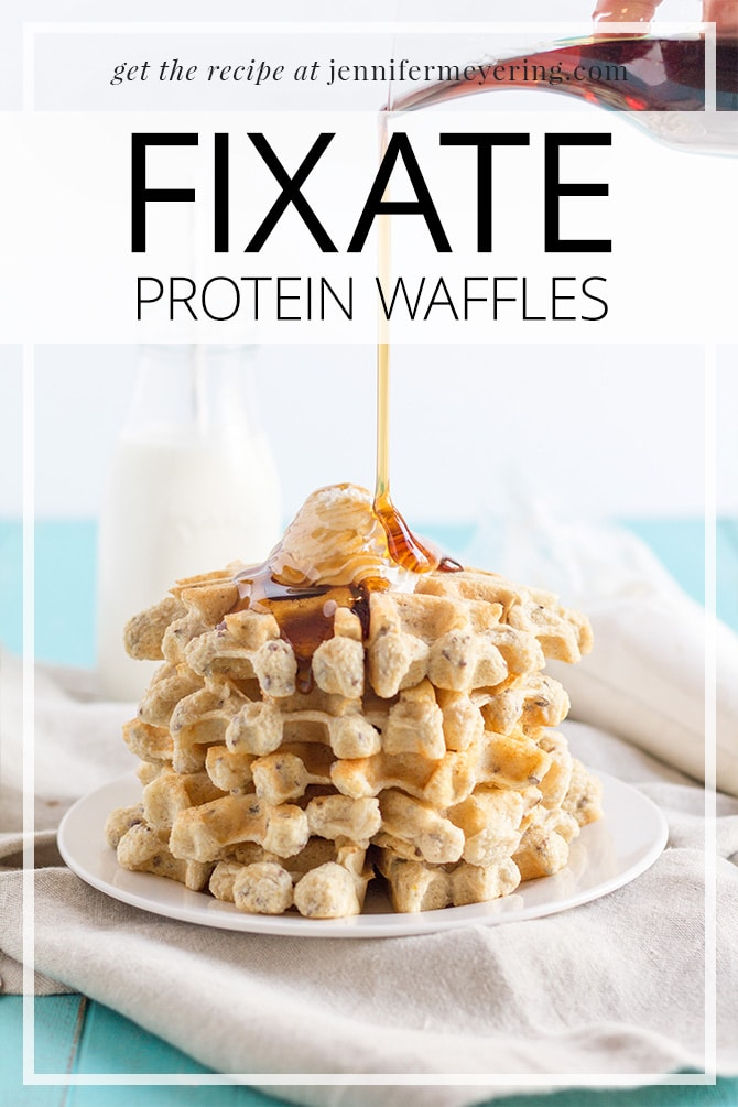 FIXATE Protein Waffles - JenniferMeyering.com