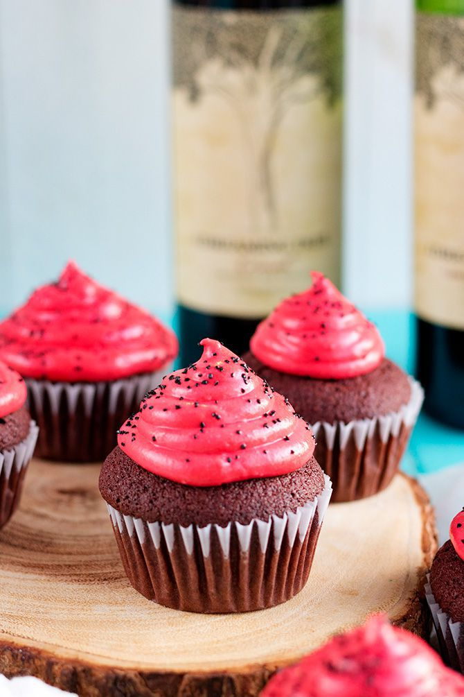 Chocolate Red Wine Cupcakes