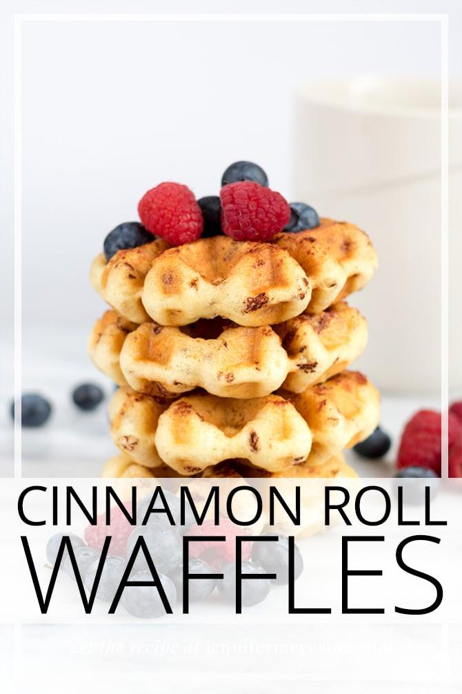 Cinnamon Roll Waffles - JenniferMeyering.com