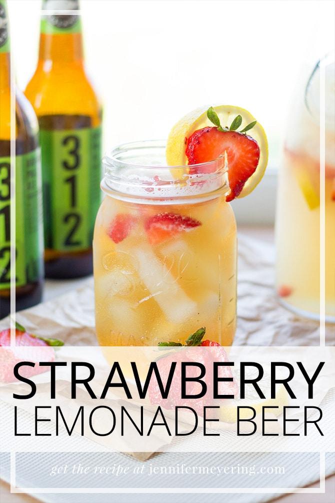 Strawberry Lemonade Beer - JenniferMeyering.com