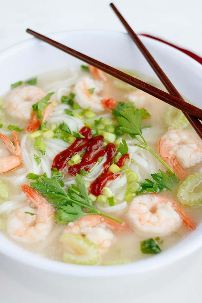 Spicy Asian Shrimp Soup