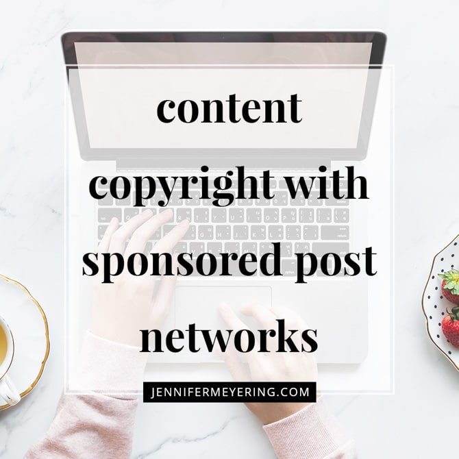 Content Copyright with Sponsored Post Networks