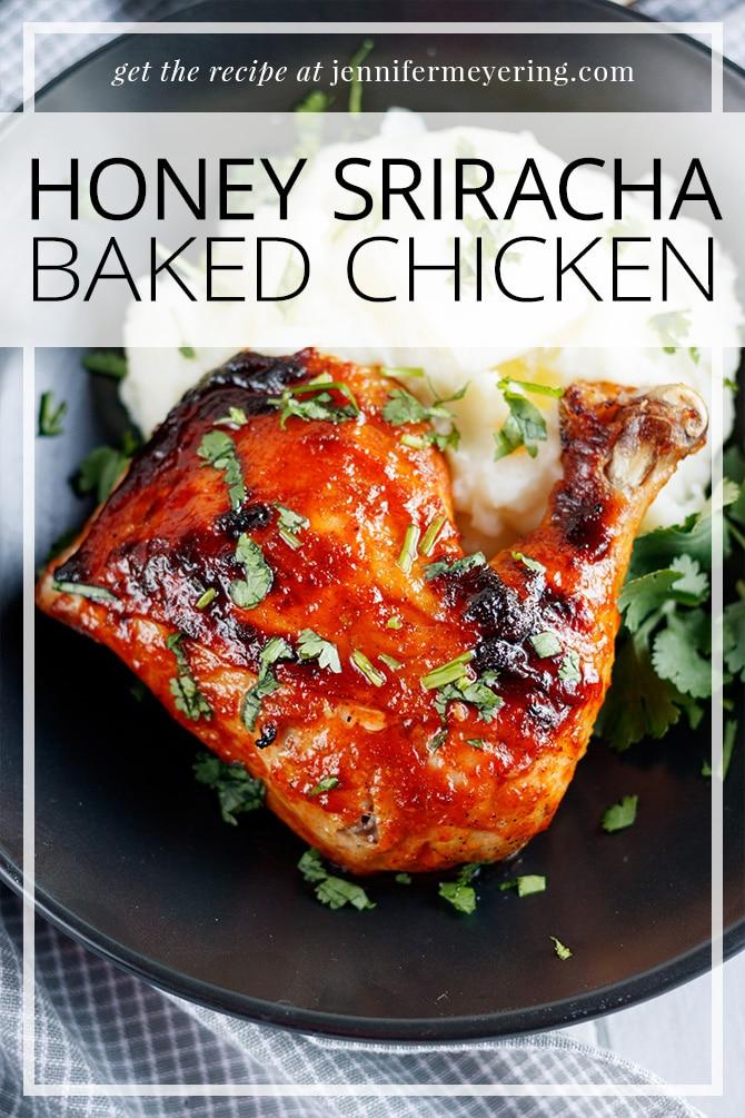 Honey Sriracha Chicken - JenniferMeyering.com
