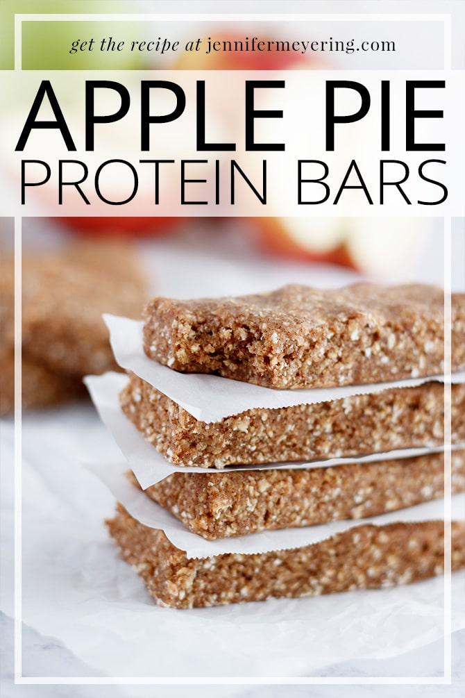 Apple Pie Protein Bars - JenniferMeyering.com
