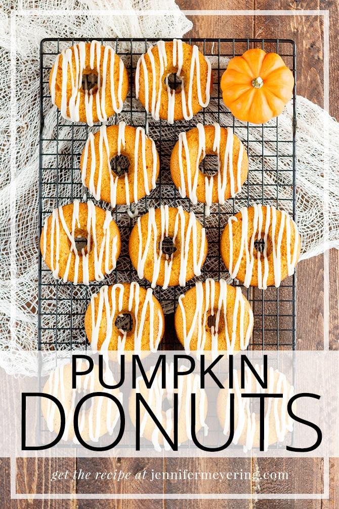 Pumpkin Donuts - JenniferMeyering.com