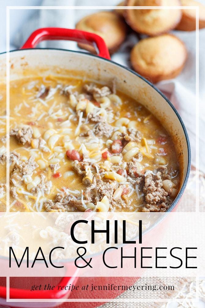 Chili Mac & Cheese - JenniferMeyering.com