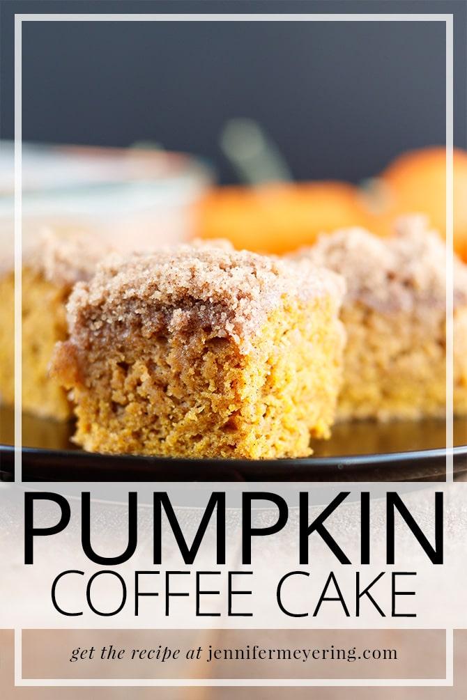 Pumpkin Coffee Cake - JenniferMeyering.com