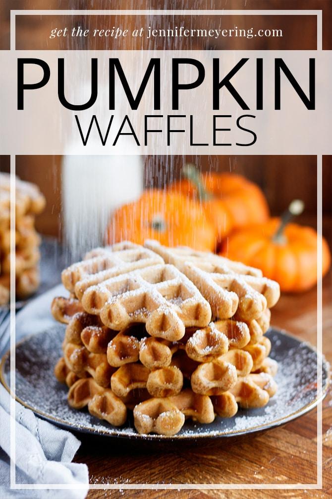 Pumpkin Waffles - JenniferMeyering.com