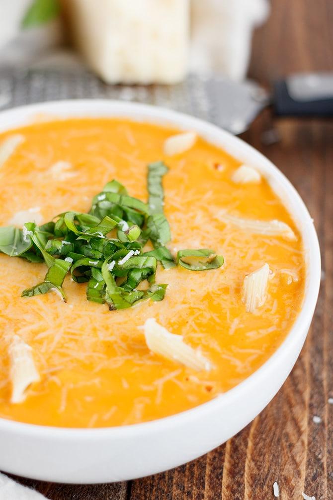 Creamy Tomato Pasta Soup