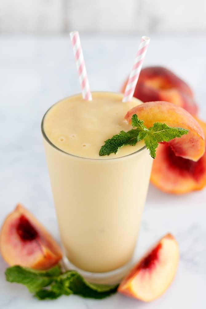 Peach Mango Protein Shake