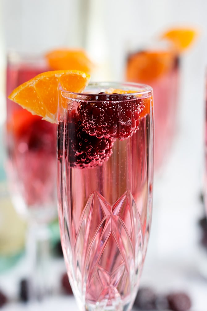Sparkling Blackberry Punch