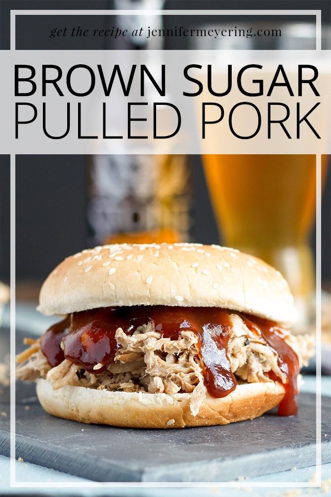 Brown Sugar Pulled Pork Sandwiches - JenniferMeyering.com