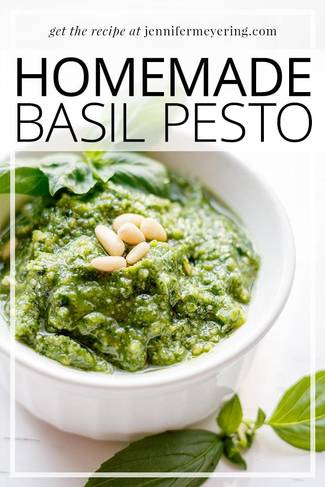 Homemade Basil Pesto - JenniferMeyering.com