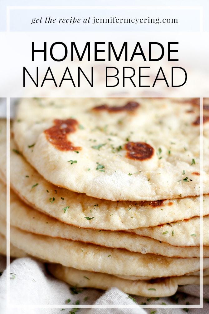 Homemade Naan - JenniferMeyering.com