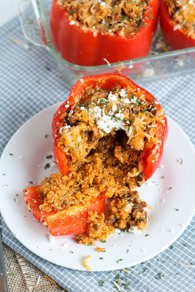 Quinoa & Chorizo Stuffed Peppers